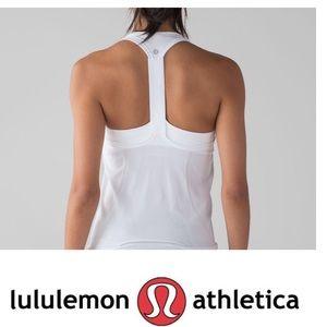 50% OFF LULULEMON Swiftly Tech T-Back White Size 6